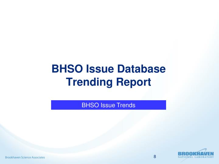 BHSO Issue Database