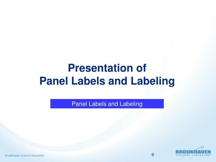 Presentation of