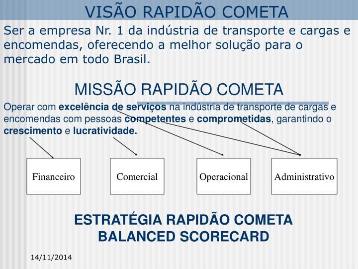 VISÃO RAPIDÃO COMETA