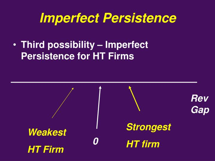 Imperfect Persistence