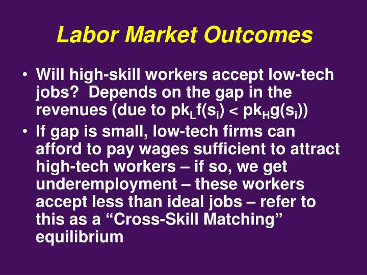 Labor Market Outcomes