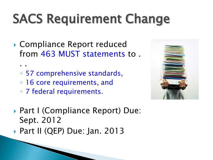SACS Requirement Change