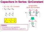 capacitors in series q constant