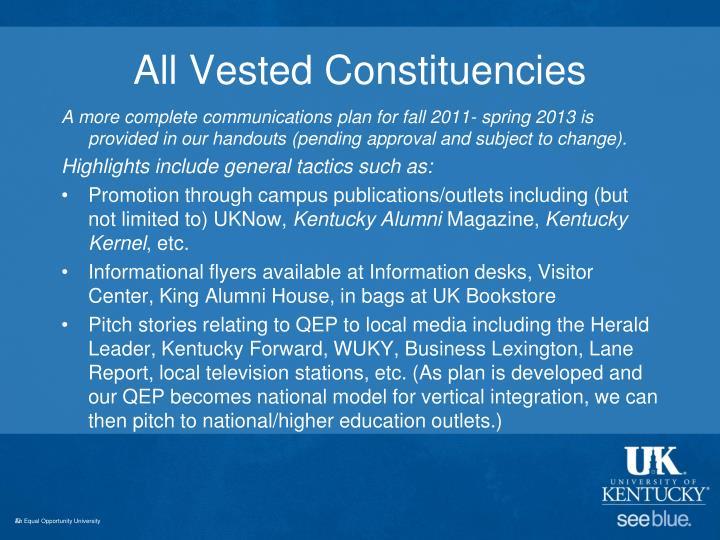 All Vested Constituencies