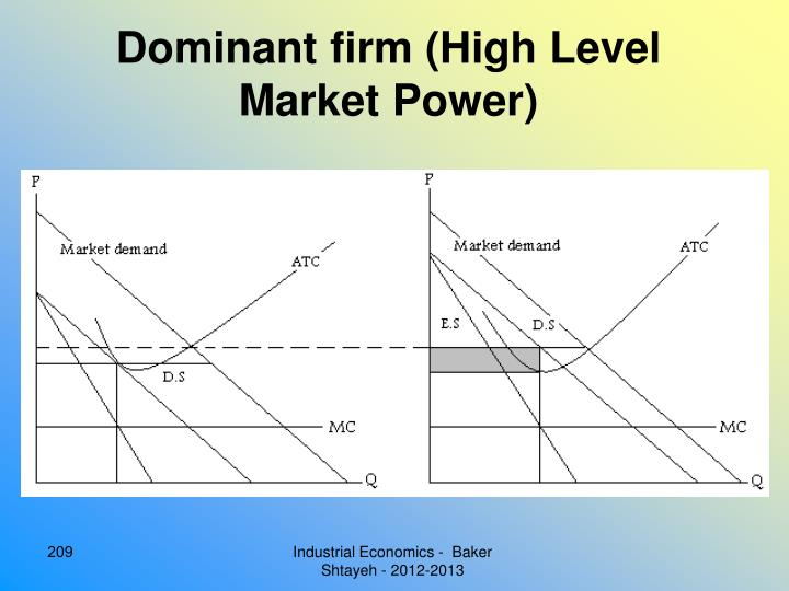 Dominant firm (High Level Market Power)