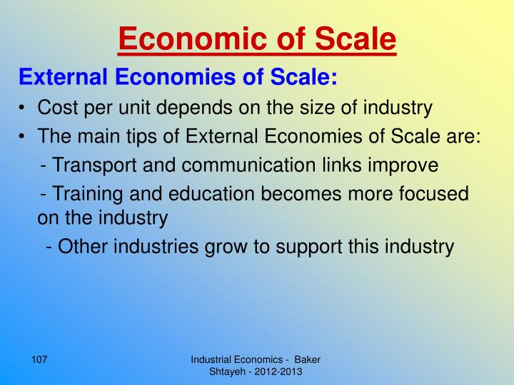 Economic of Scale