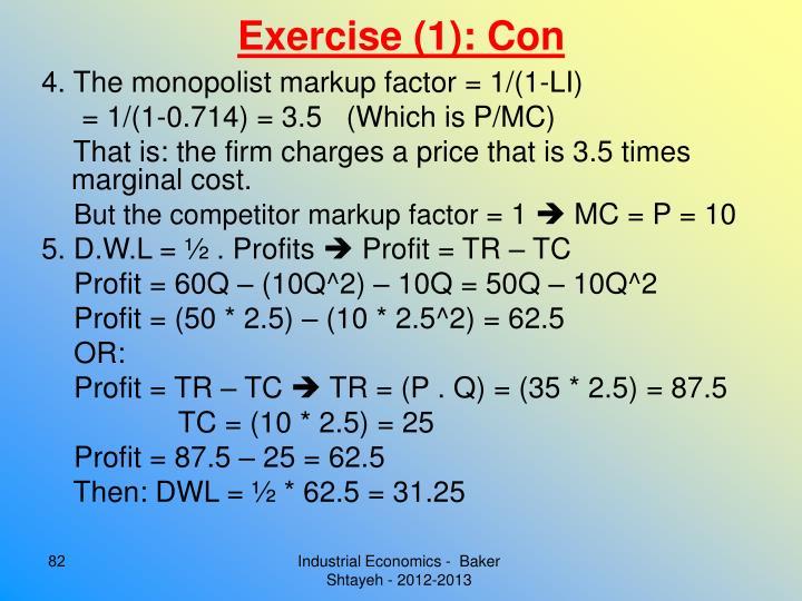 Exercise (1): Con
