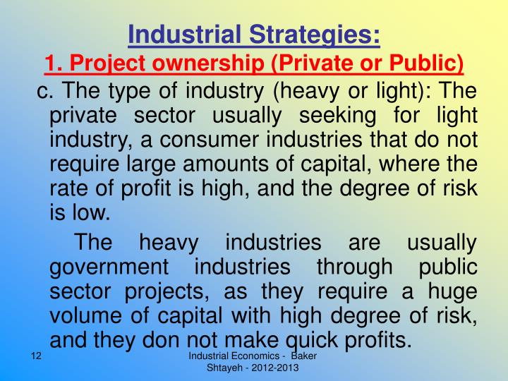 Industrial Strategies: