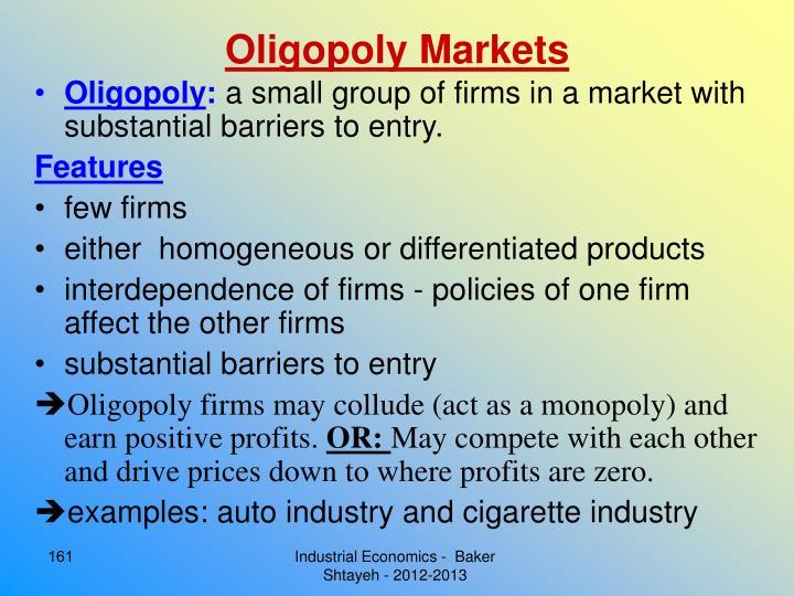 Oligopoly Markets