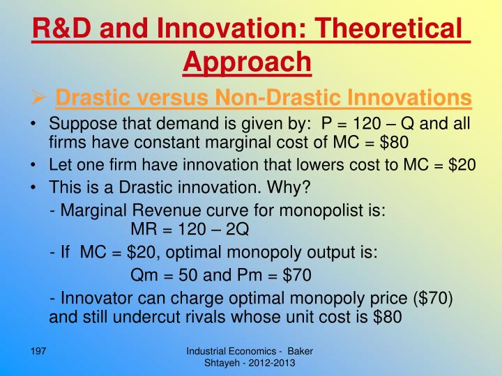 R&D and Innovation: Theoretical Approach