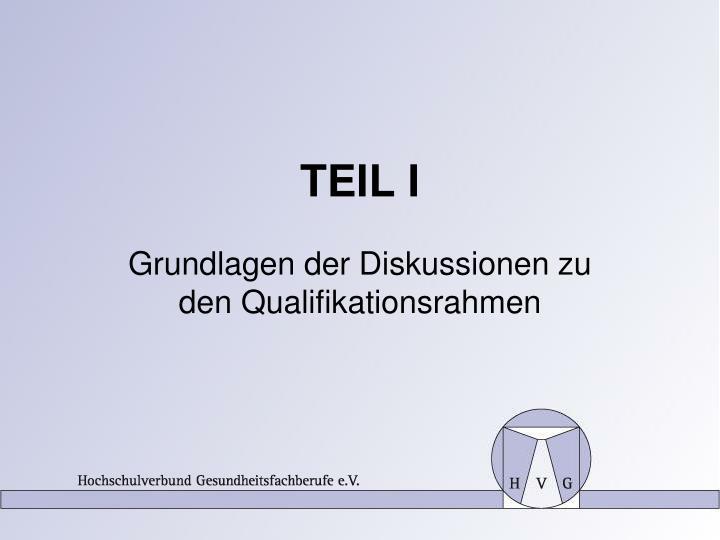 TEIL I