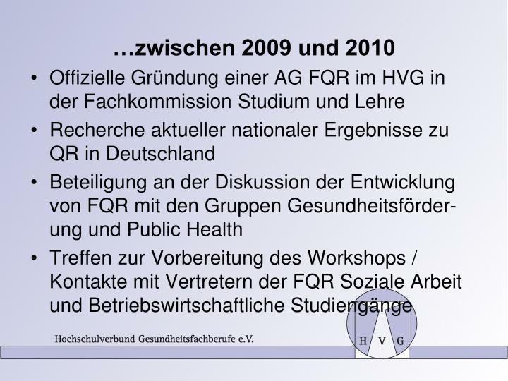 …zwischen 2009 und 2010