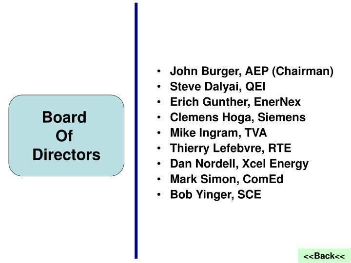 John Burger, AEP (Chairman)