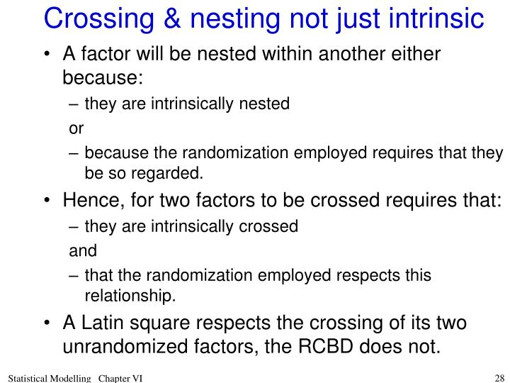 Crossing & nesting not just intrinsic