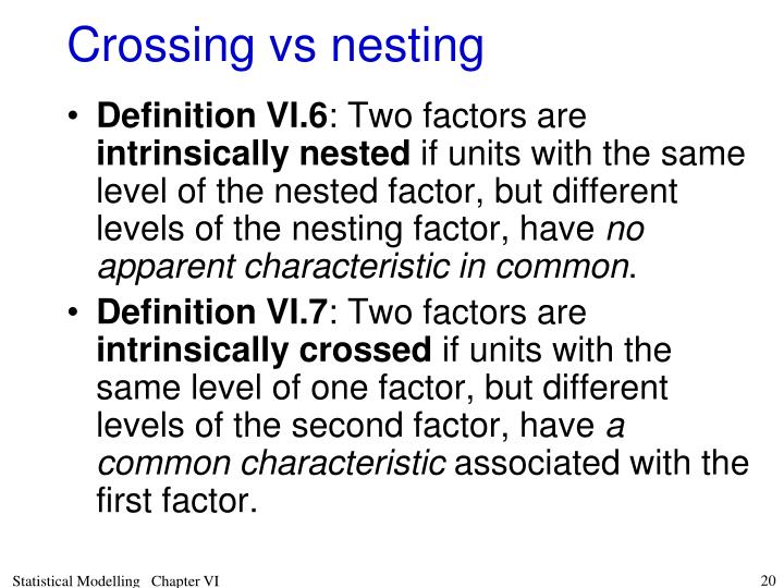 Crossing vs nesting