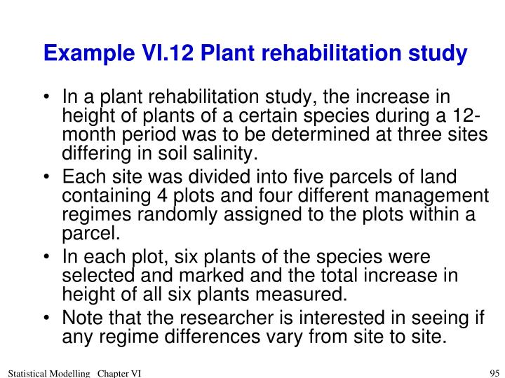 Example VI.12 Plant rehabilitation study