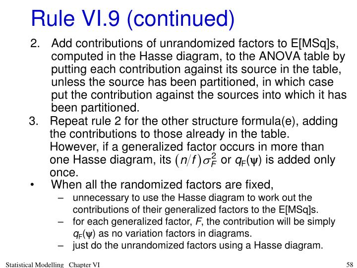 Repeat rule 2 for the other structure formula(e), adding the contributions to those already in the table.