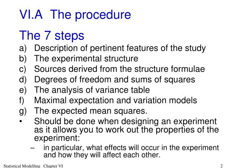 Vi a the procedure