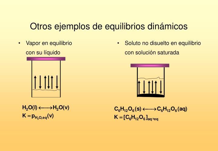 Otros ejemplos de equilibrios dinámicos