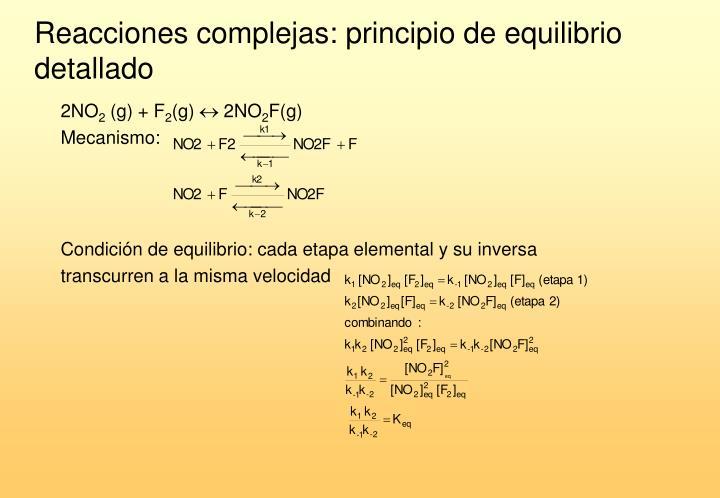 Reacciones complejas: principio de equilibrio detallado
