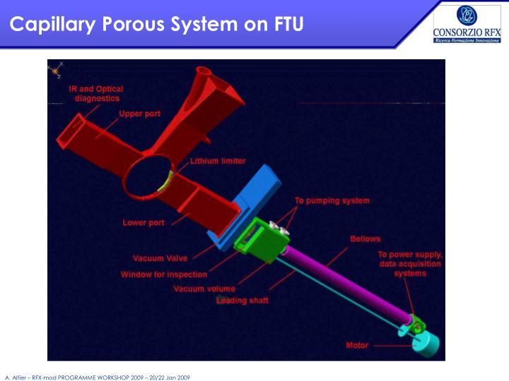 Capillary Porous System on FTU