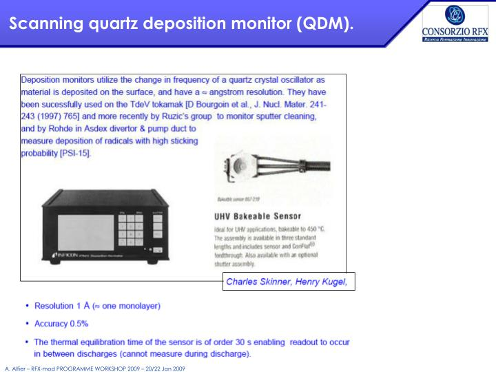 Scanning quartz deposition monitor (QDM).