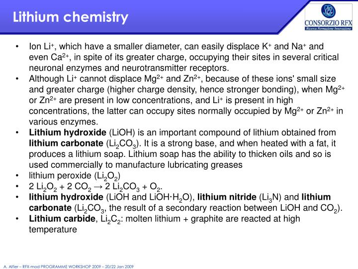 Lithium chemistry