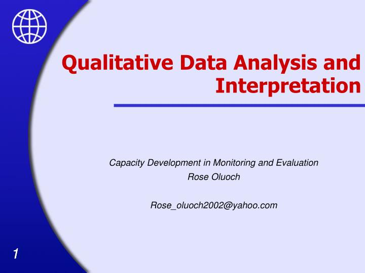 a qualitative analysis report on an