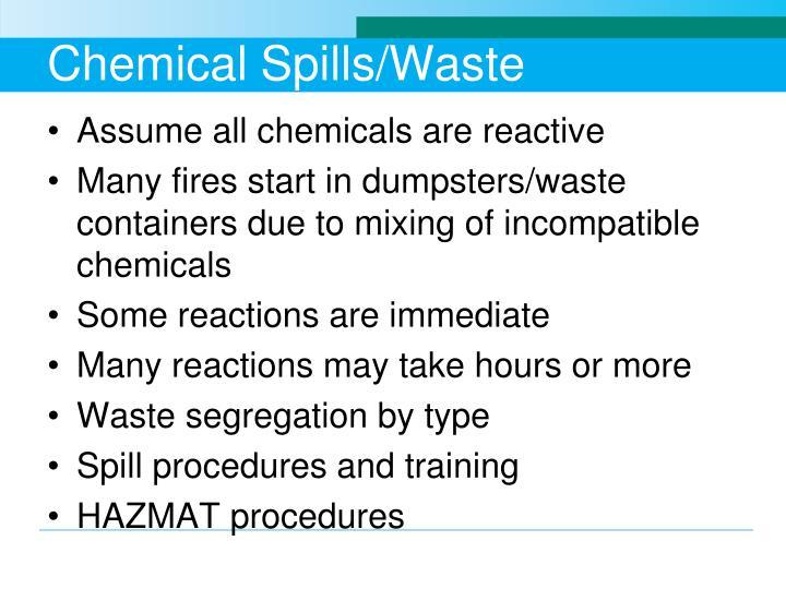 Chemical Spills/Waste
