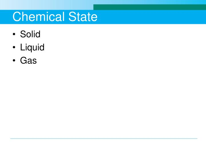 Chemical State