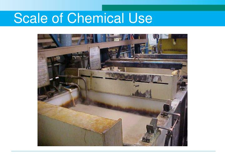 Scale of Chemical Use