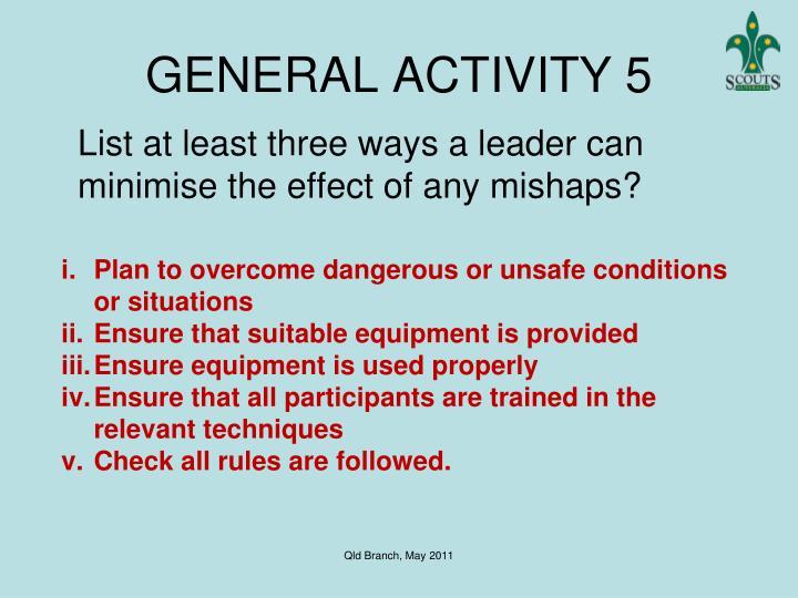 GENERAL ACTIVITY 5