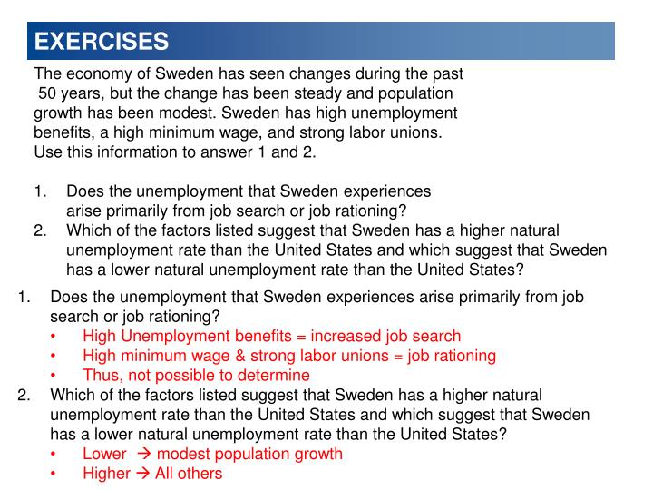 The economy of Sweden has seen changes during the past