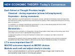 new economic theory today s consensus