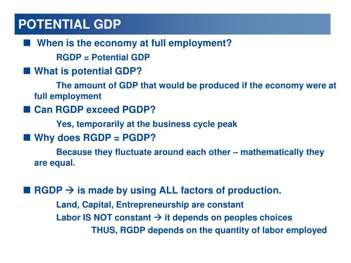 POTENTIAL GDP