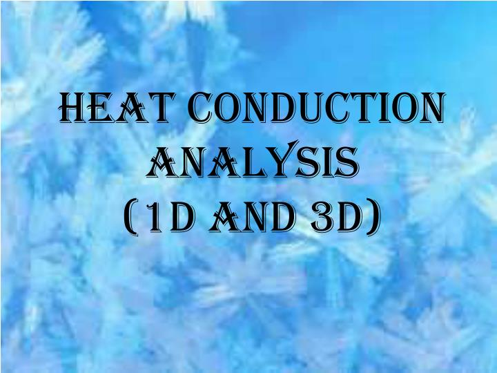 Heat conduction analysis