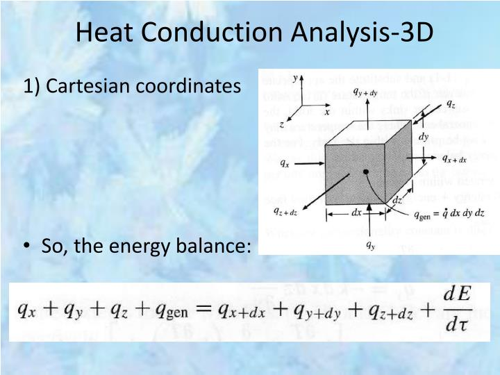 Heat Conduction Analysis-3D