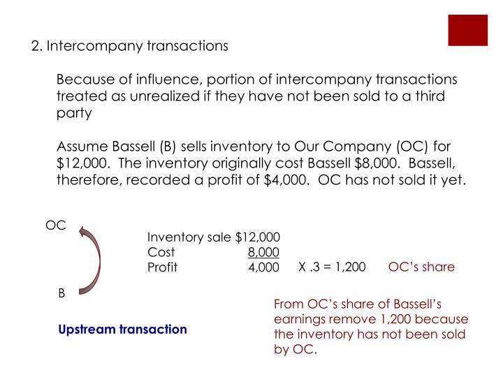 2. Intercompany transactions