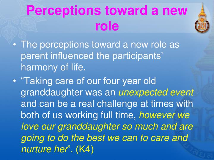 Perceptions toward a new role