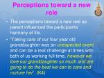 perceptions toward a new role