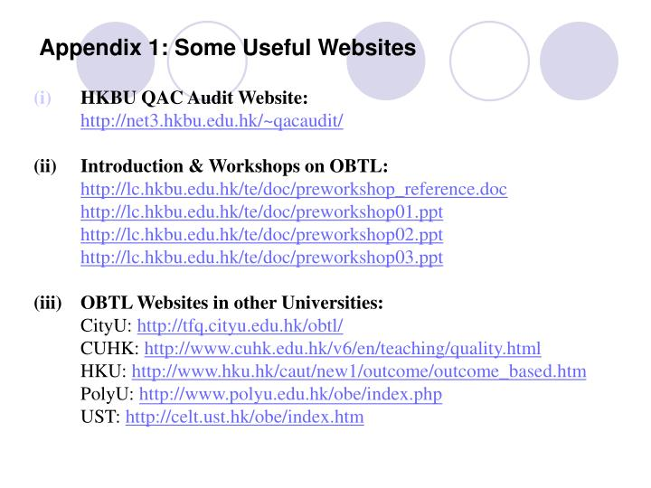 Appendix 1: Some Useful Websites