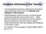 graduate attributes the teacher