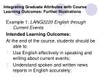 integrating graduate attributes with course learning outcomes further illustrations