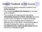 student feedback on the course1