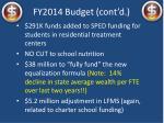 fy2014 budget cont d