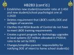 hb283 cont d