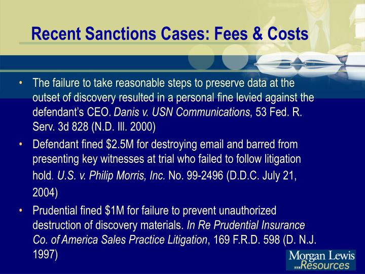 Recent Sanctions Cases: Fees & Costs