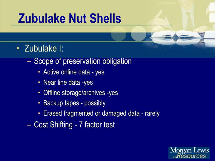 Zubulake Nut Shells