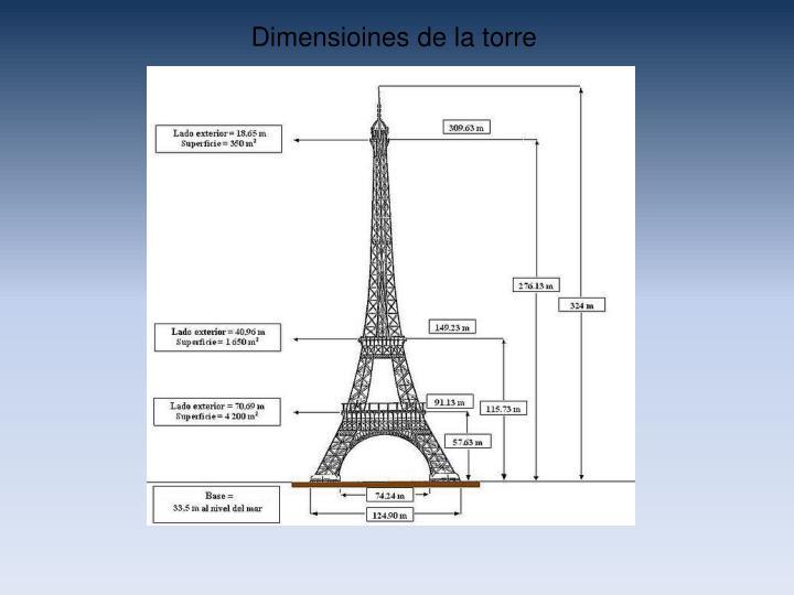 Dimensioines de la torre