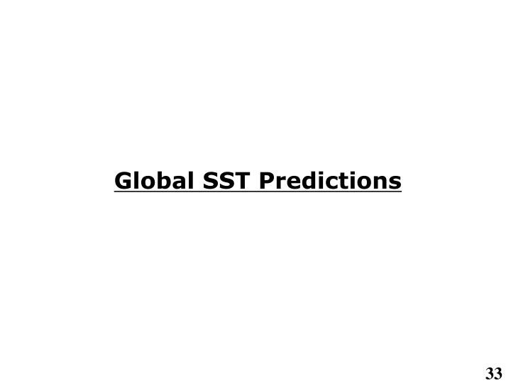 Global SST Predictions